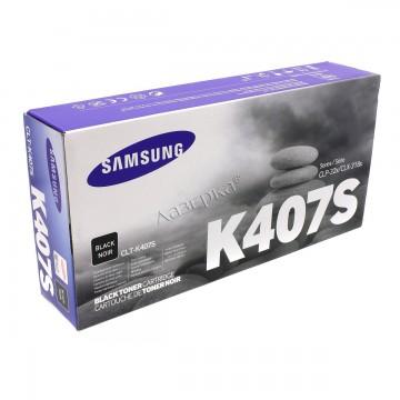 CLT-K407S оригинальный лазерный картридж Samsung, ресурс - 1500 страниц, черный
