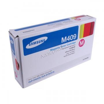 CLT-M409S оригинальный лазерный картридж Samsung, ресурс - 1000 страниц, пурпурный