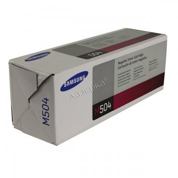 CLT-M504S оригинальный лазерный картридж Samsung, ресурс - 1800 страниц, пурпурный