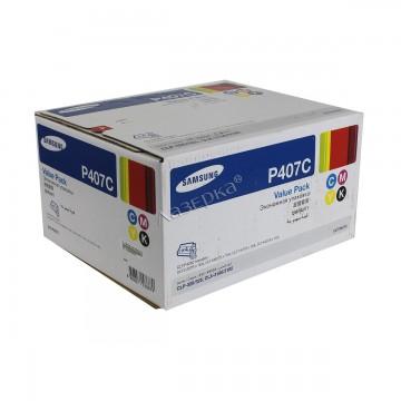 CLT-P407S набор оригинальных лазерных картриджей Samsung, ресурс - 1000 страниц, цветной