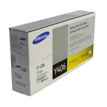 CLT-Y406S оригинальный лазерный картридж Samsung, ресурс - 1000 страниц, желтый