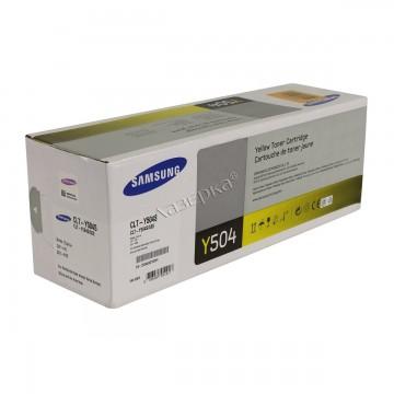 Samsung CLT-Y504S | SU504A оригинальный тонер картридж - желтый, 1800 стр