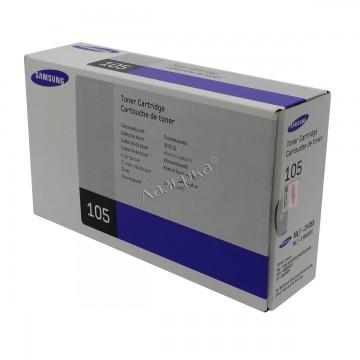 MLT-D105S оригинальный лазерный картридж Samsung, ресурс - 1500 страниц, черный