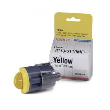 106R01204 Yellow оригинальный лазерный картридж Xerox, ресурс - 1000 страниц, желтый