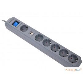 Сетевой фильтр Defender DFS 501 USB Charger