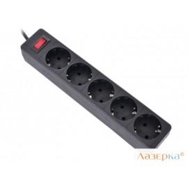 Сетевой фильтр Defender ES 1.8 m Black 5 розеток