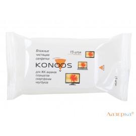 Салфетки для ЖК-экранов в мягкой пачке, Konoos KSN-15