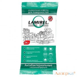 Влажные салфетки Fellowes Lamirel LA-61617(01) 24 шт