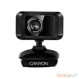 Веб-камера CANYON CNE-CWC1 Enhanced 1.3 Megapixels resolution webcam with USB2.0 connector черный