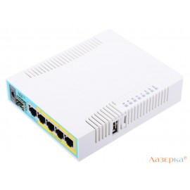 Маршрутизатор Mikrotik hEX PoE 5x10/100 Mbps USB RB960PGS