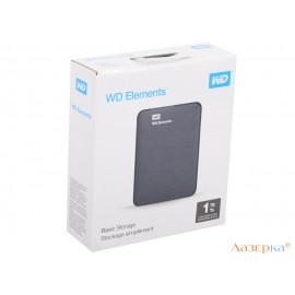 Внешний жесткий диск 1Tb WD WDBUZG0010BBK-WESN Elements Portable черный