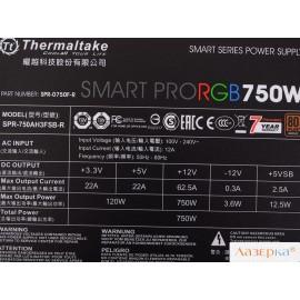 Блок питания Thermaltake Smart Pro RGB 750W (PS-SPR-0750FPCBEU-R)