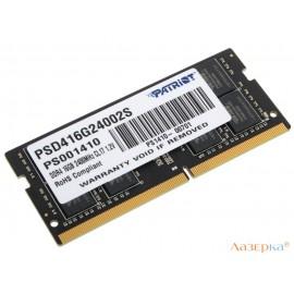 Оперативная память для ноутбуков SO-DIMM DDR4 16GB (pc-19200) 2400MHz Patriot
