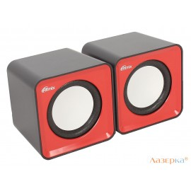 Колонки RITMIX SP-2020 2.0, Black/Red (61000571)