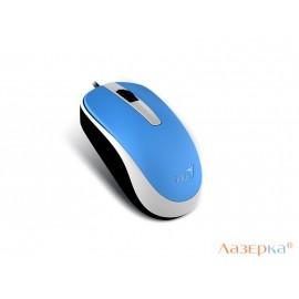 Мышь проводная Genius DX-120 Blue, USB оптическая, голубая, 1000 dpi, 3 кнопки
