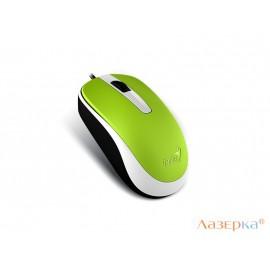Мышь проводная Genius DX-120 Green, USB оптическая, зеленый, 1000 dpi, 3 кнопки,
