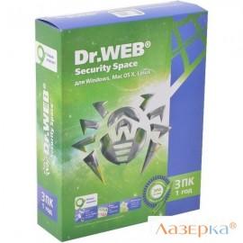 Антивирус DoctorWeb Security Space 3 ПК 1 год (AHW-B-12M-3-A3)