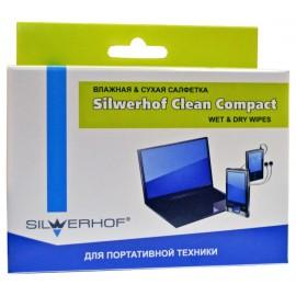 Чистящие салфетки Silwerhof 671204 для планшетов и смартфонов коробка 10шт сухих+10шт влажных
