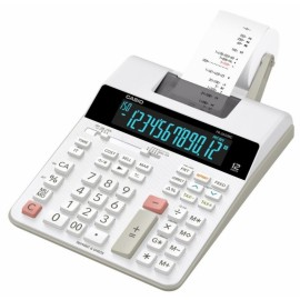 Калькулятор с печатью CASIO FR-2650RC-W-EC 12-разрядный серый/белый